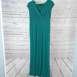 Tiana B. green sleeveless high waist maxi dress